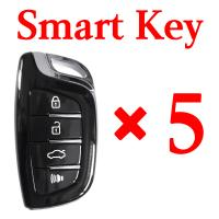 Xhorse VVDI Universal Smart Key with Proximity Function - 4 Butoons - 5 pcs