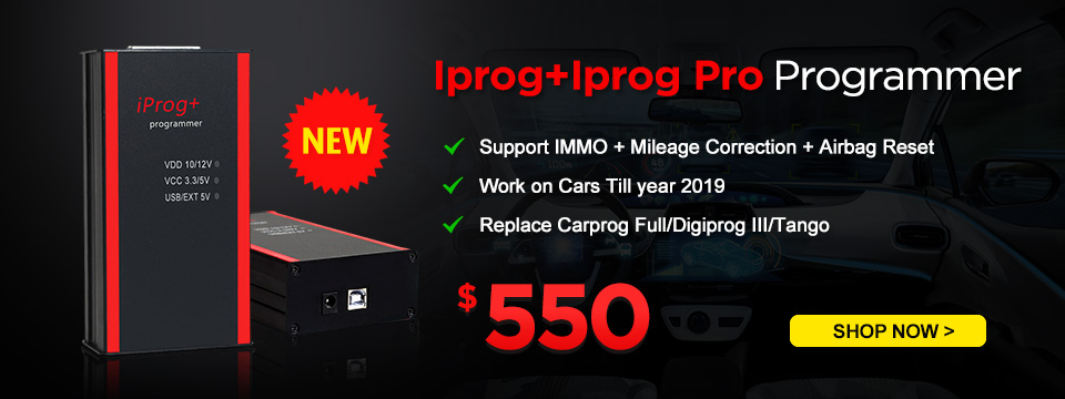 Iprog+ Iprog Pro Programmer Support IMMO + Mileage Correction + Airbag Reset till the year 2019 Replace Carprog Full Digiprog III Tango